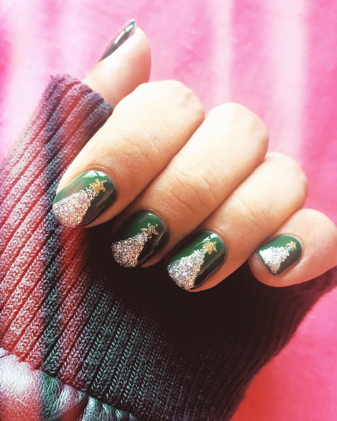 Albero di Natale glitter argento e oro