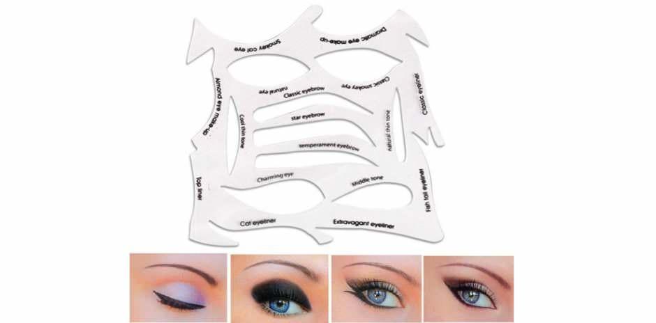 Stencil per smokey eyes ed eyeliner