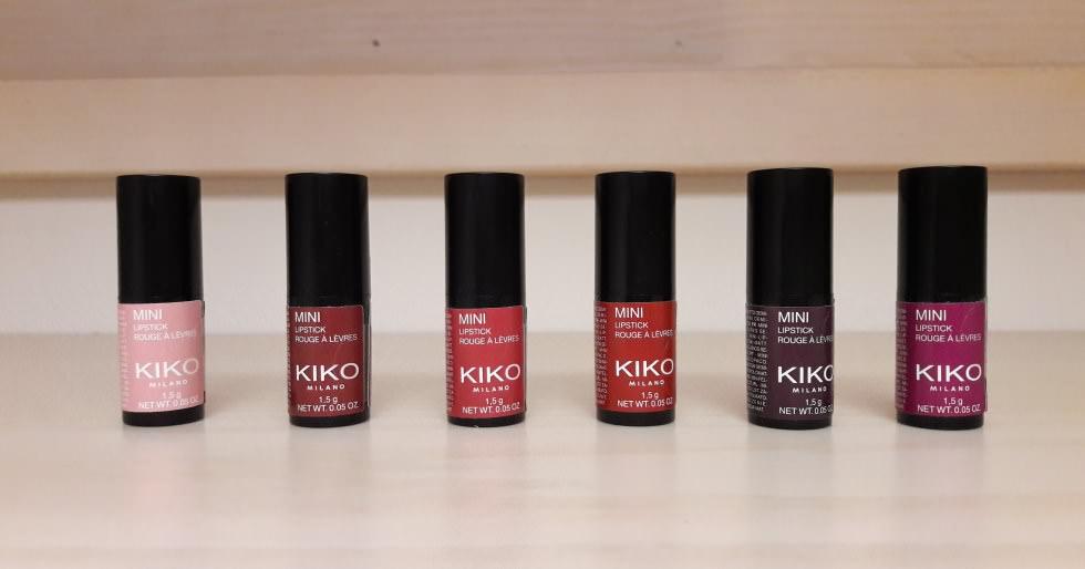 Mini lipstick Kiko rossetti in edizione limitata