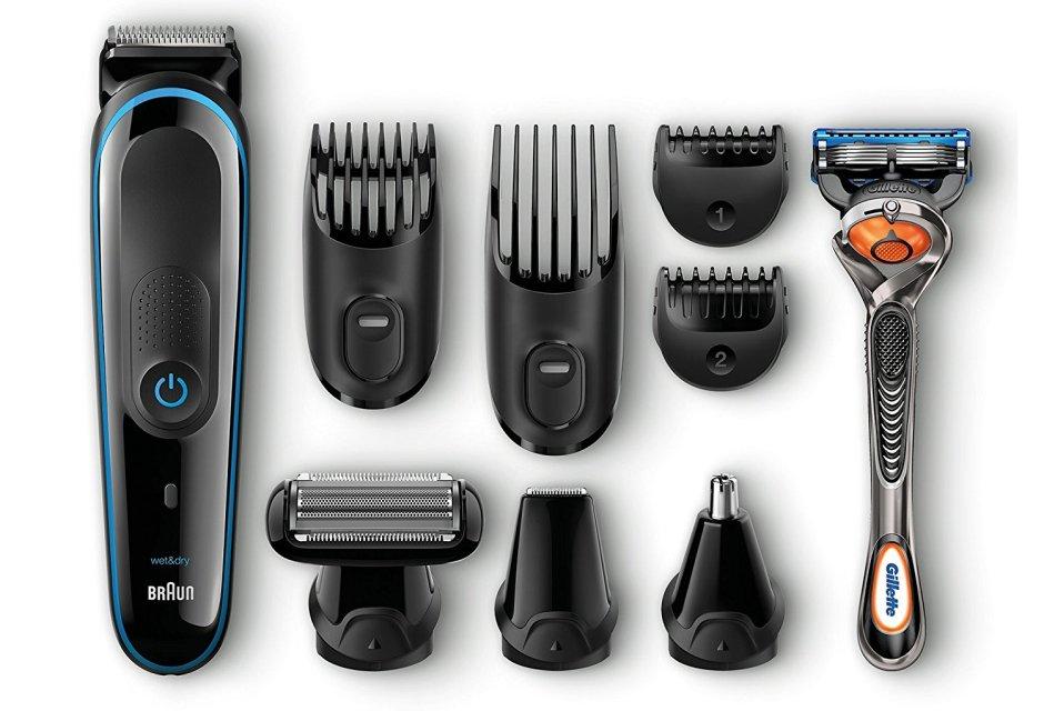 Regola barba e taglia capelli Braun kit completo