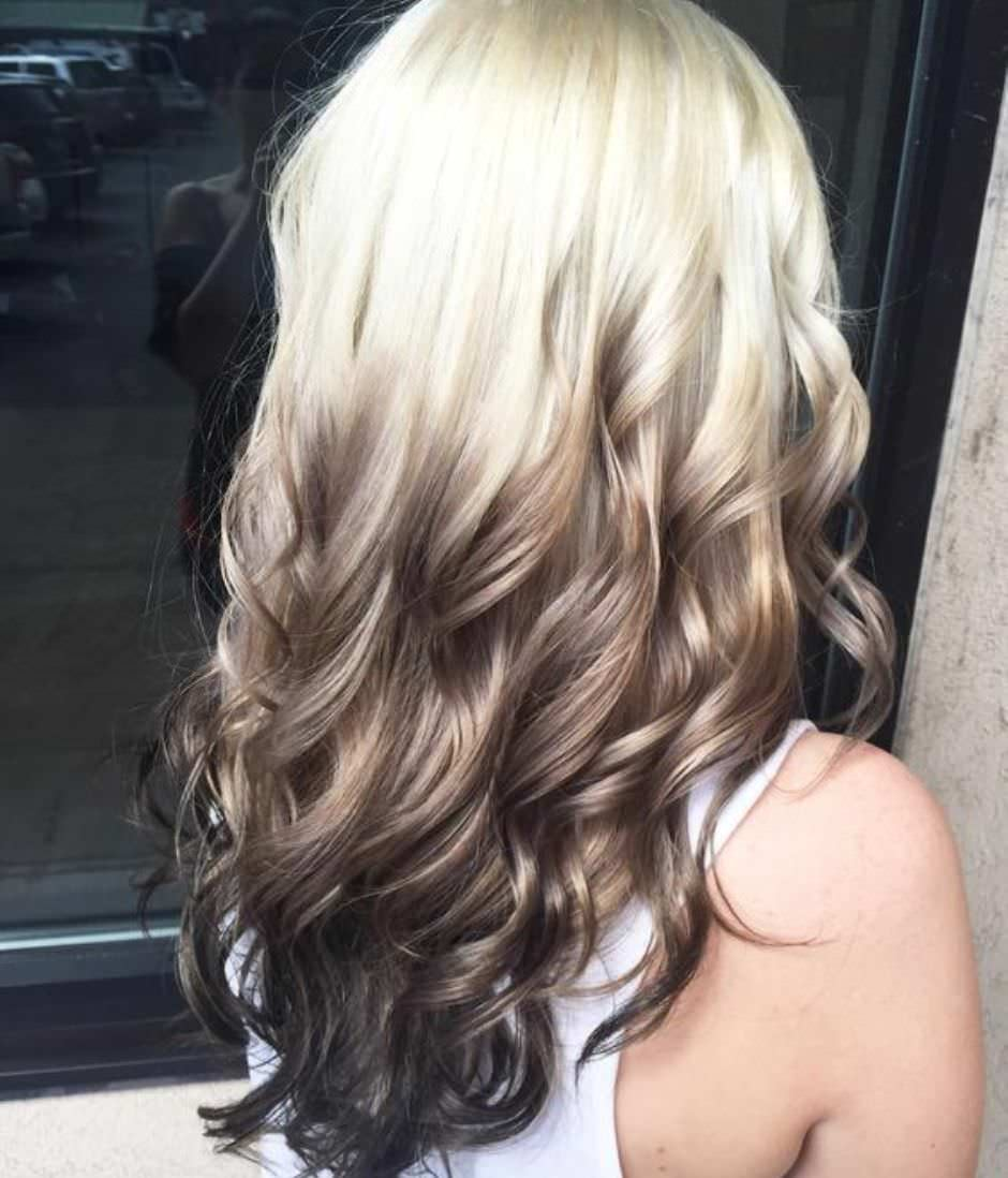 Balayage inverso ombré capelli lunghi