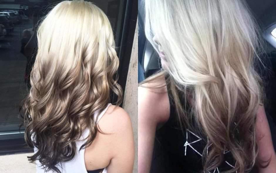 Reverse Balayage tendenza 2018 sfumatura capelli al contrario