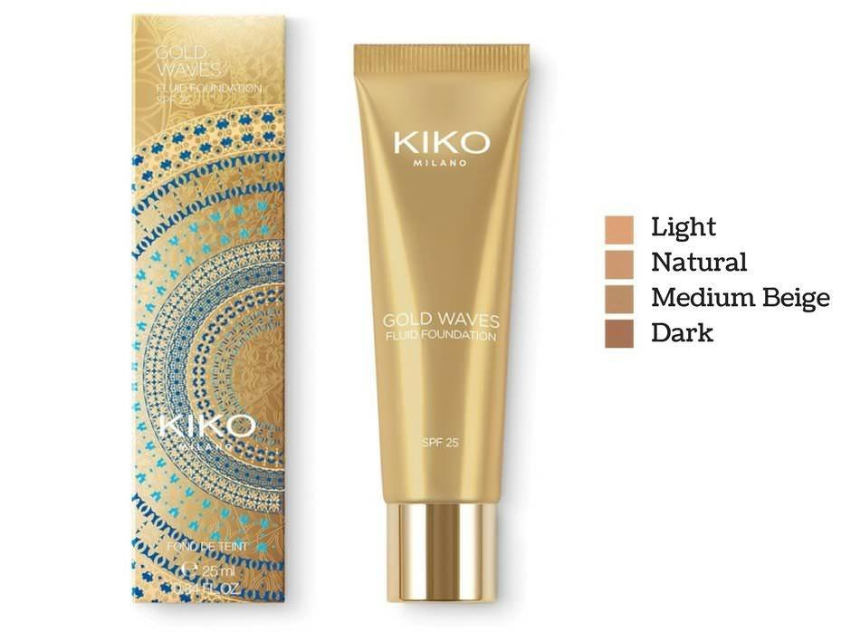 Fondotinta fluido Kiko Gold Waves