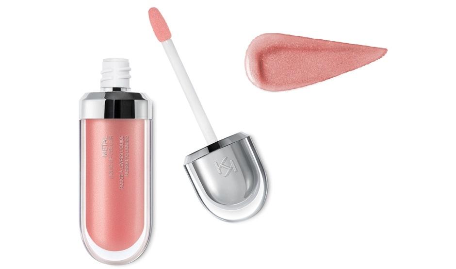 Rossetto liquido metallizzato 01 Rosy Nude Kiko Milano