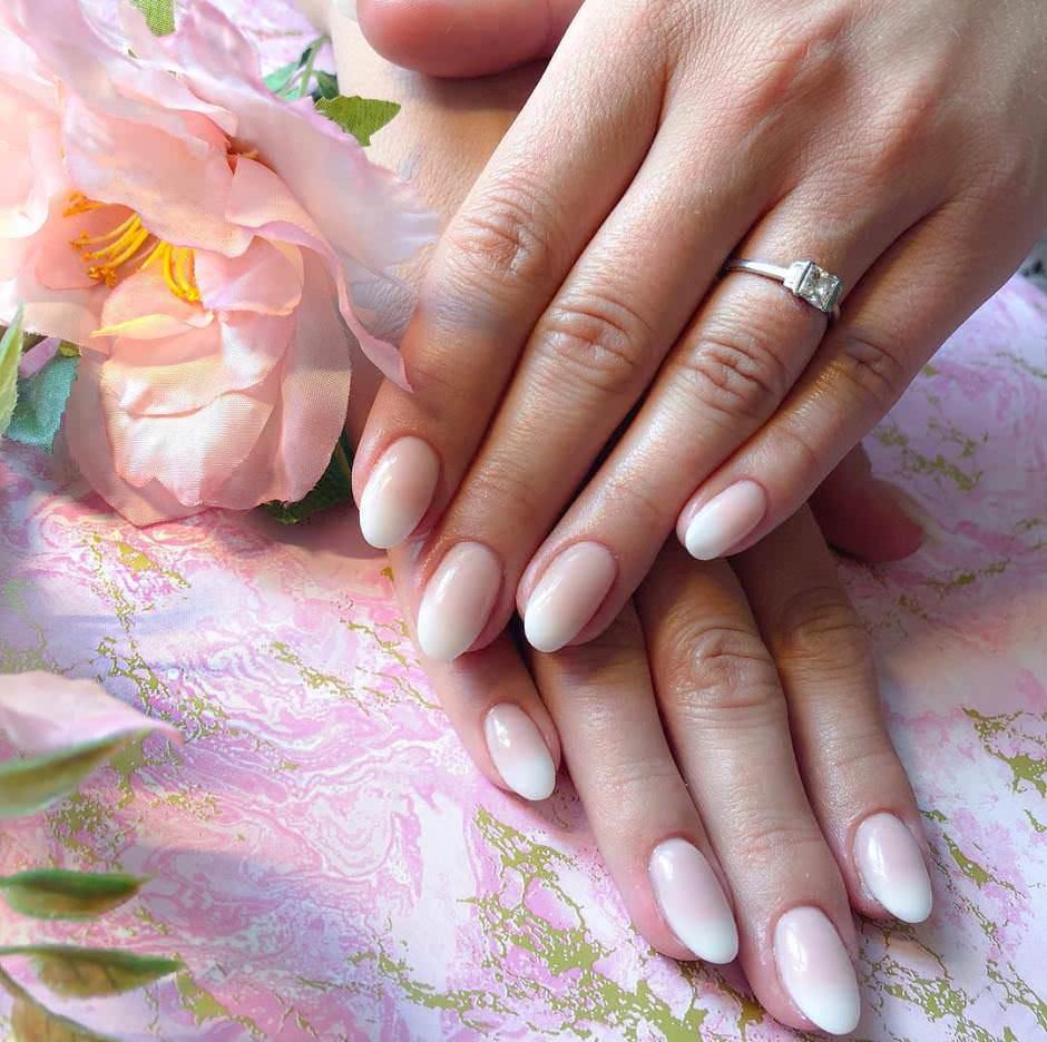 Unghie sposa 2018 rosa degradé Babyboomer