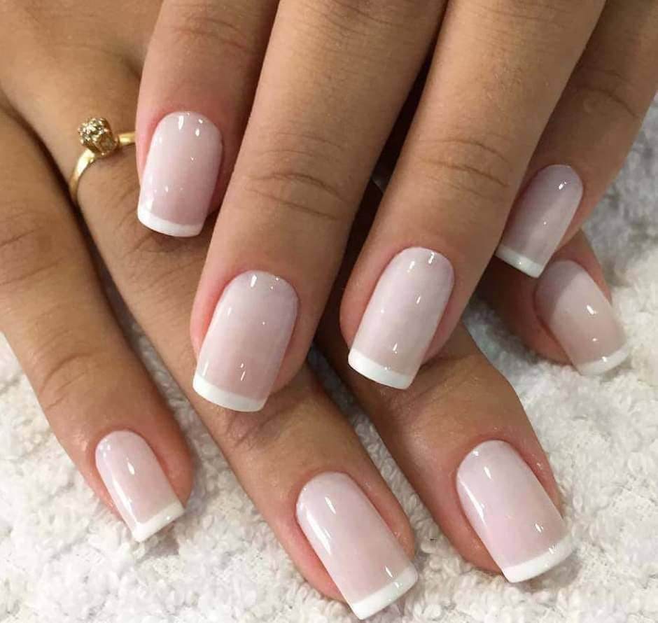 French manicure Autunno 2018 rosa e bianco