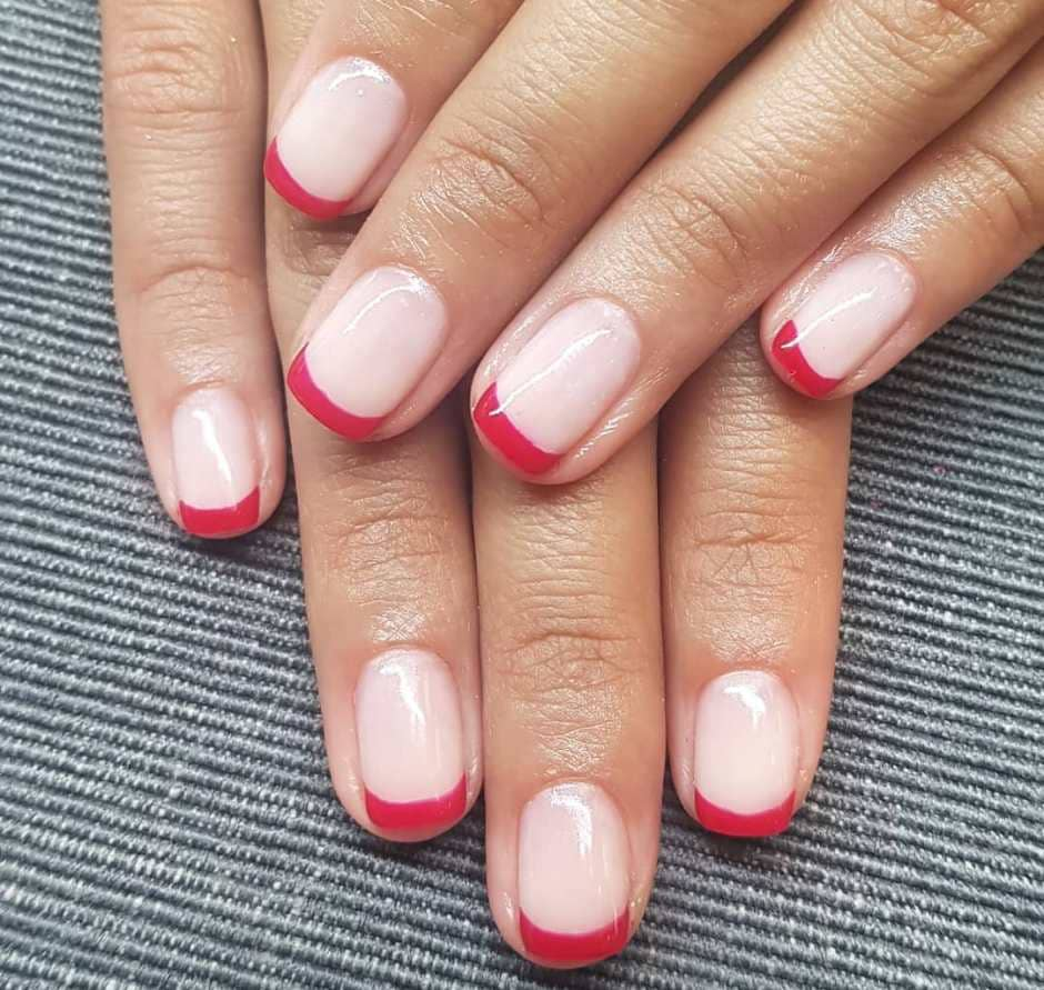 Red French Manicure unghie Autunno 2018