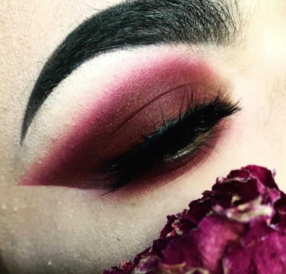 Trucco occhi ombretto ciliegia Autunno 2018