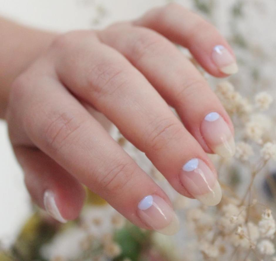 Unghie autunnali half moon manicure 2018
