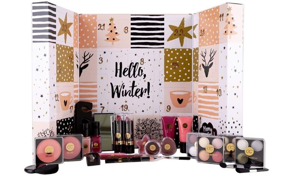 Calendario dell'Avvento Natale con cosmetici Natale 2018 Hello, Winter!
