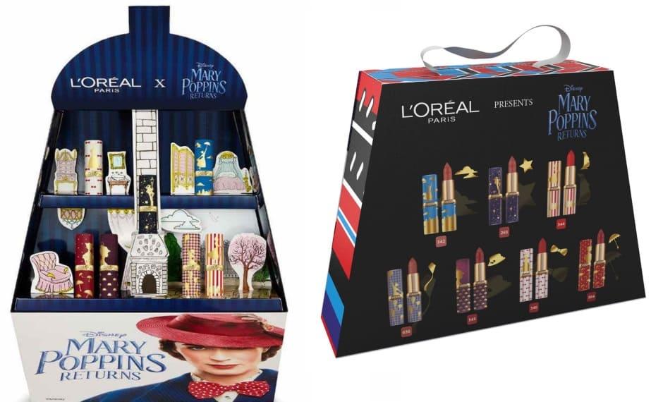 Cofanetti Natale 2018 per lei kit rossetti L'Oréal Mary Poppins