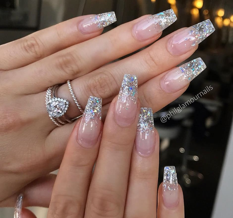 Crystal nails unghie Natale 2018