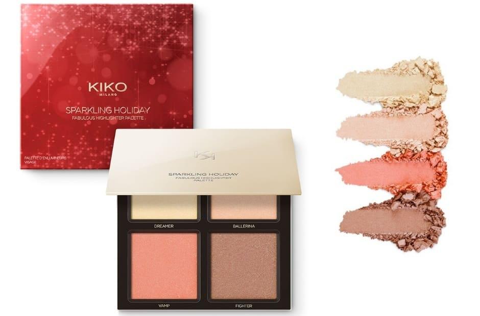 Idee regalo Kiko Natale 2018 palette illuminanti Sparkling Holiday