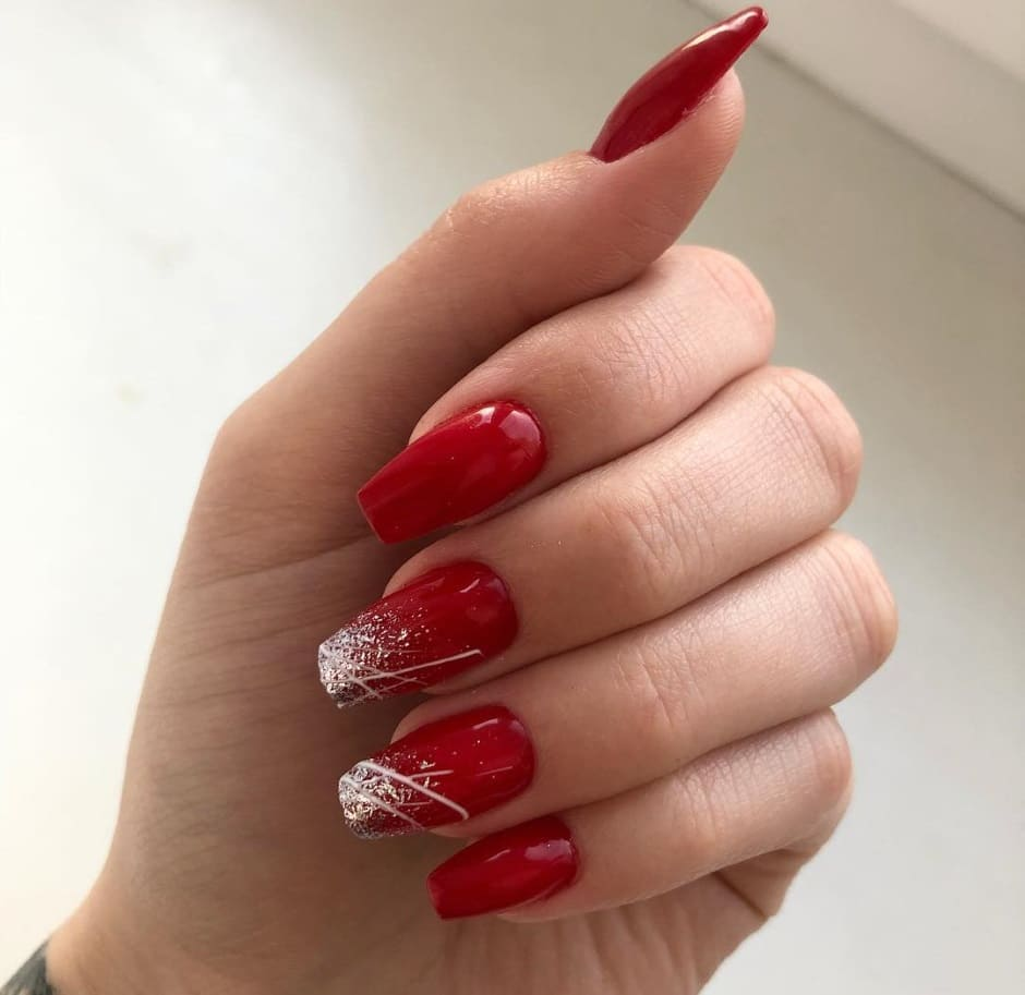 Unghie Natale 2018 glitter nail art