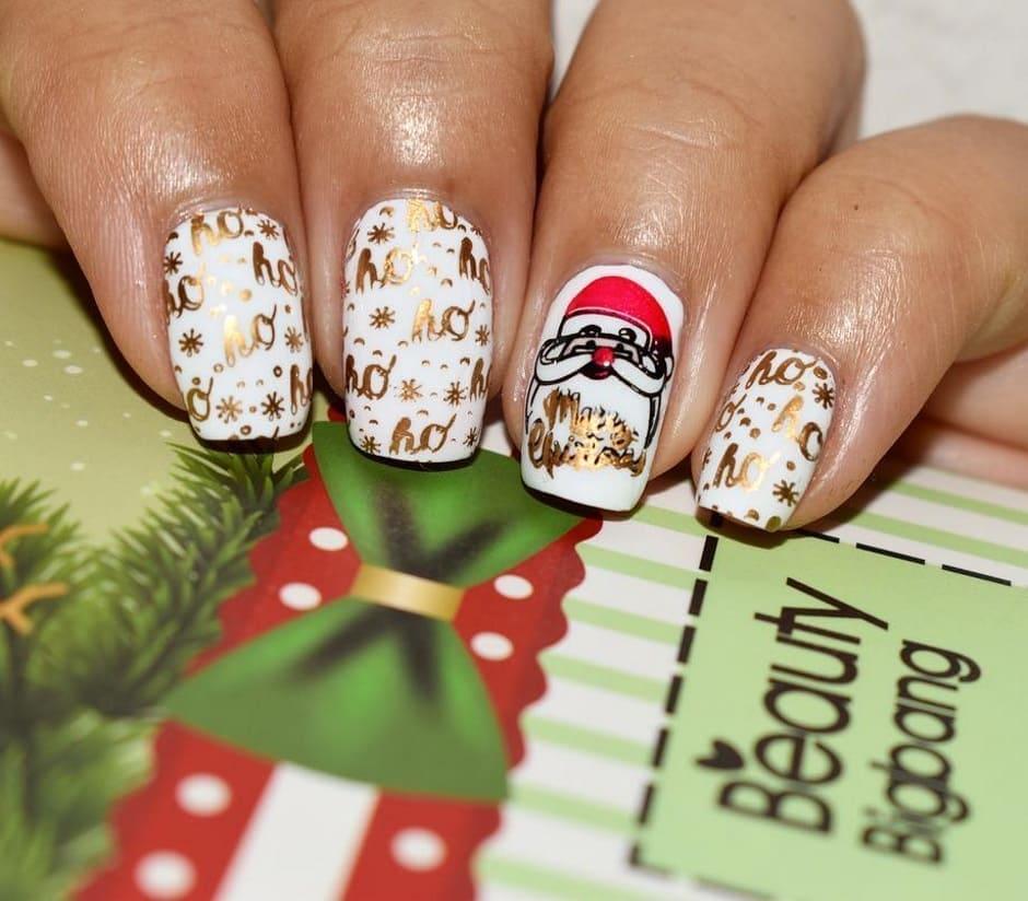 Unghie Natale 2018 nail art con disegni