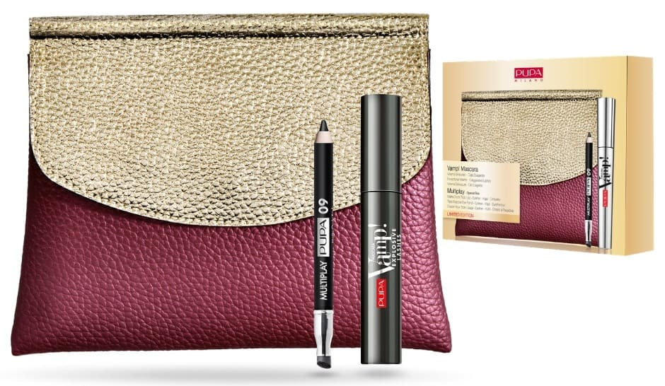Pupa make up Natale 2018 pochette mascara + matita