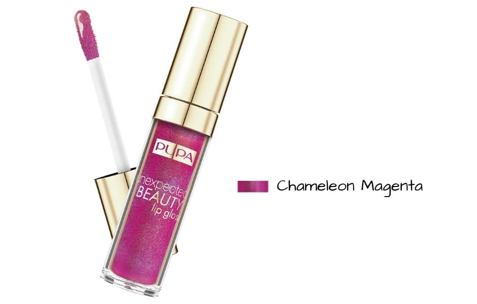 Lipgloss Pupa Unexpected Beauty Chameleon Magenta Primavera 2019
