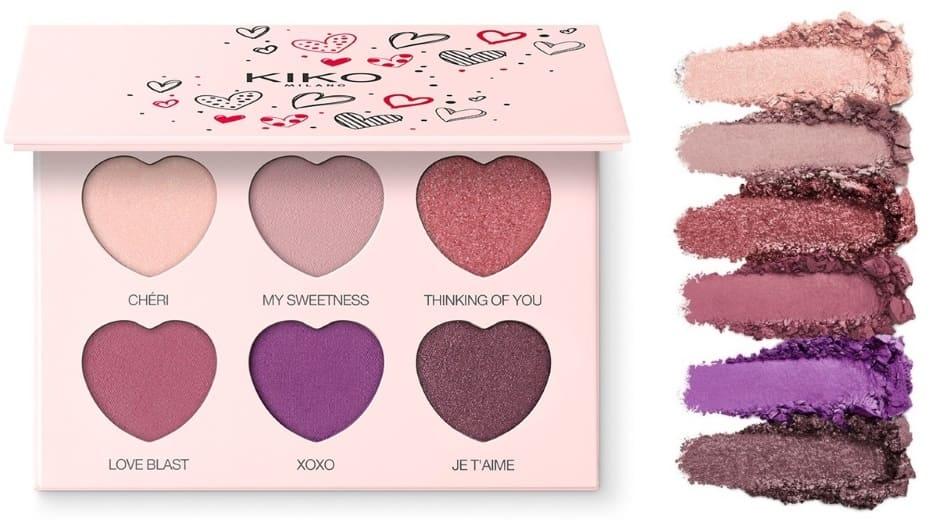 Sweetheart Kiko palette ombretti San Valentino 2019