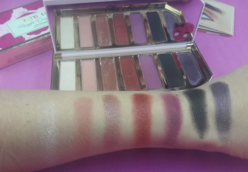 Swatch Tutti Frutti Palette Too Faced