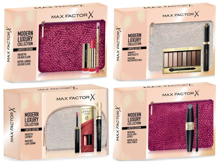 Max Factor cofanetti trucco e kit make up Natale