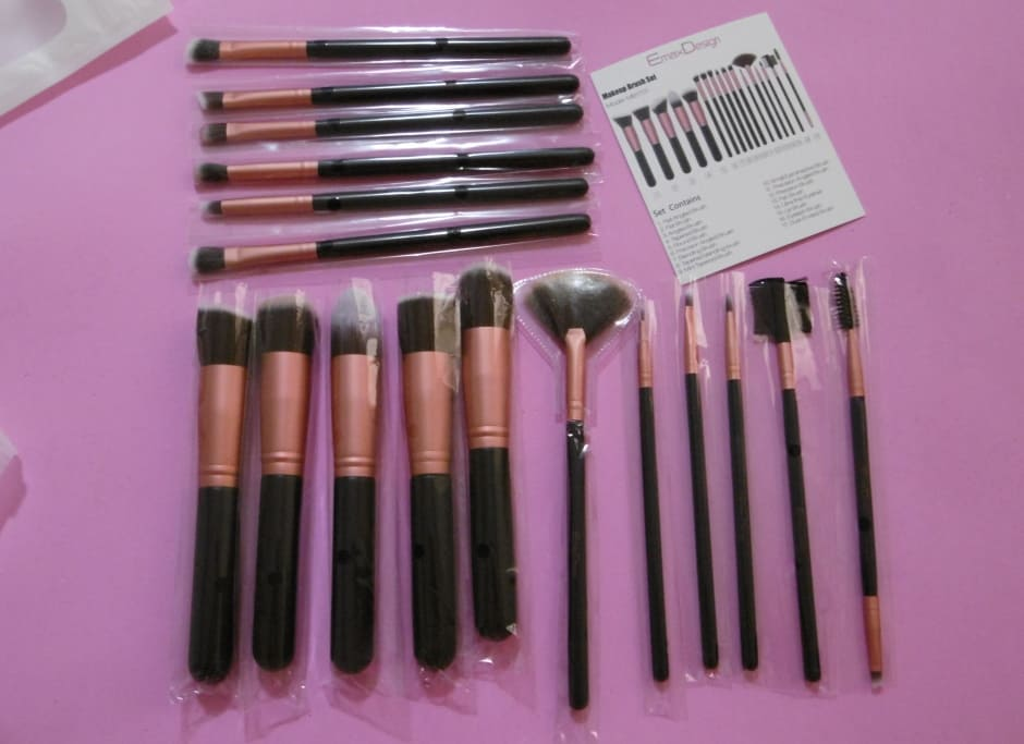 Recensione set pennelli trucco low cost