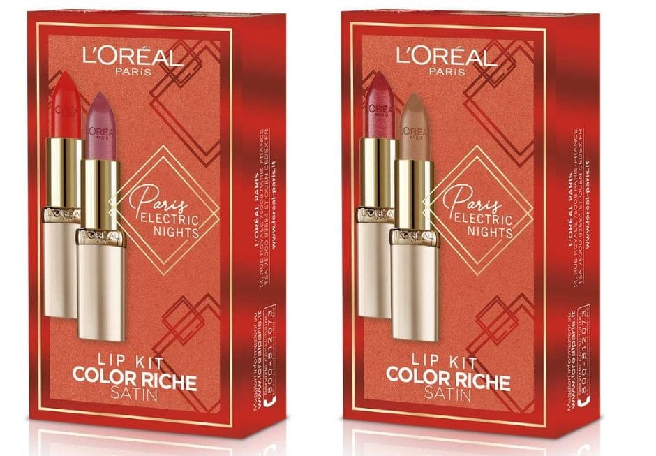 Set rossetti L'Oréal Natale 2019