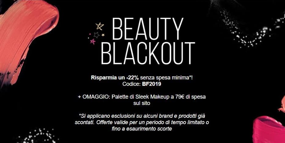 Black Friday Lookfantastic 2019 sconti beauty e make-up