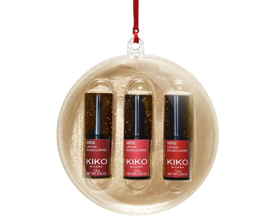 Idee regalo Kiko 2019 Natale mini rossetti