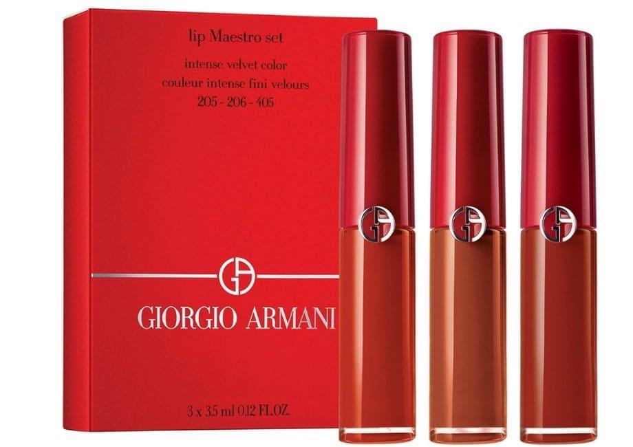 Giorgio Armani trucco labbra Natale
