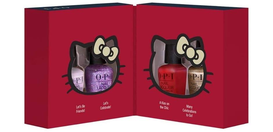 O.P.I. Collezione natalizia smalti Hello Kitty