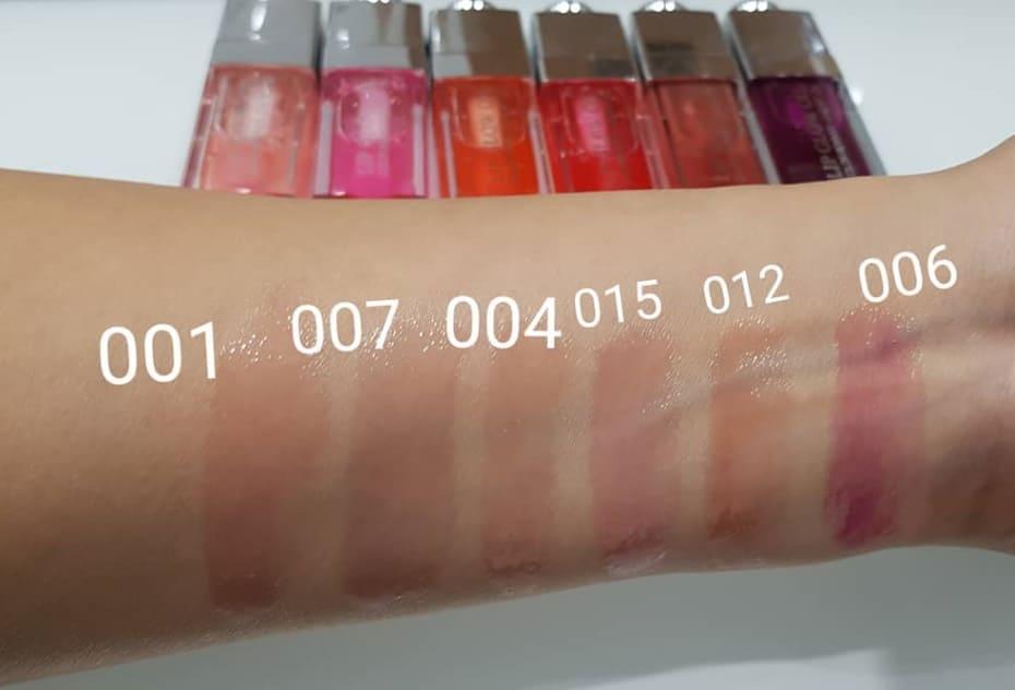 Swatch Lip Glow Oil Dior collezione 2020