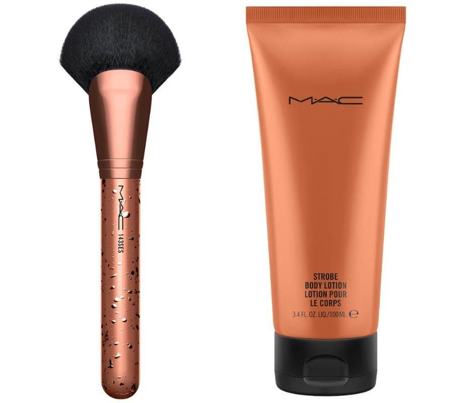 Pennello viso e crema illuminante corpo MAC Estate 2020