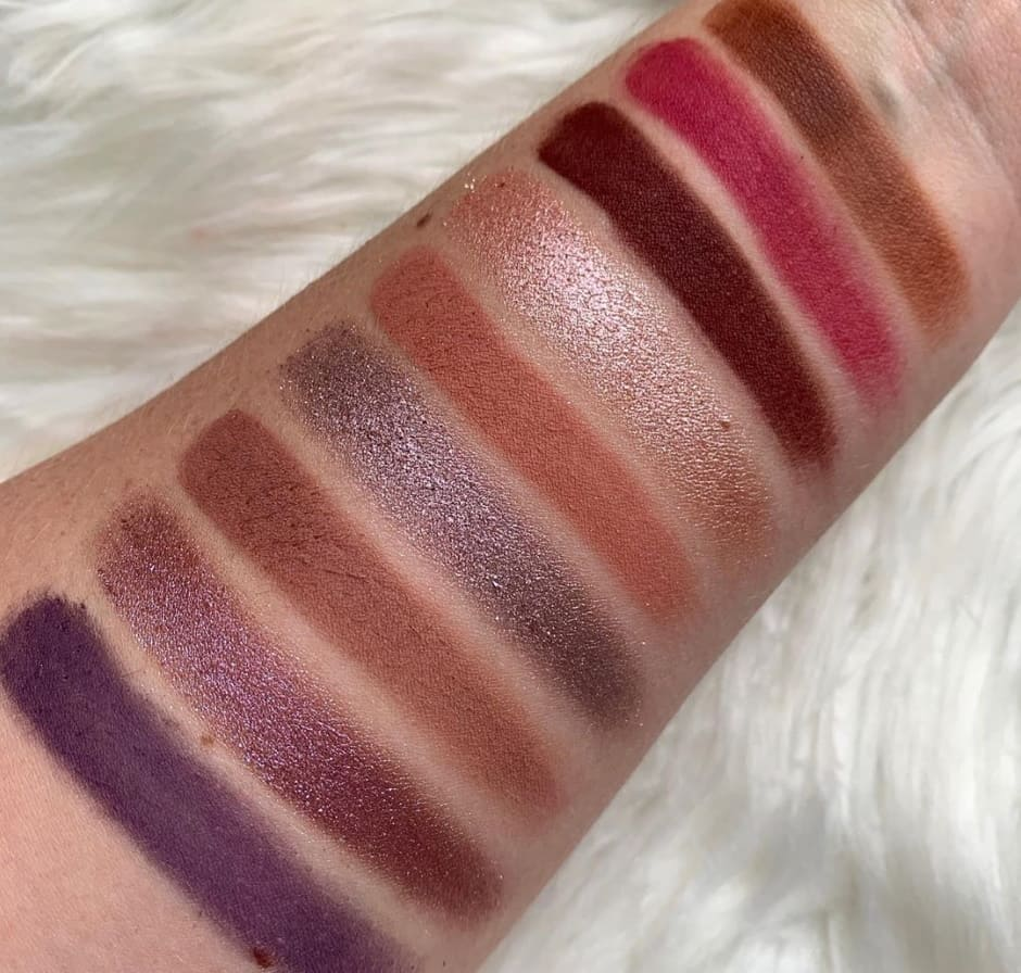 Too Faced Pumpkin Palette Swatches