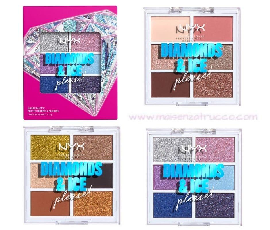 Diamond And Ice NYX Palette ombretti