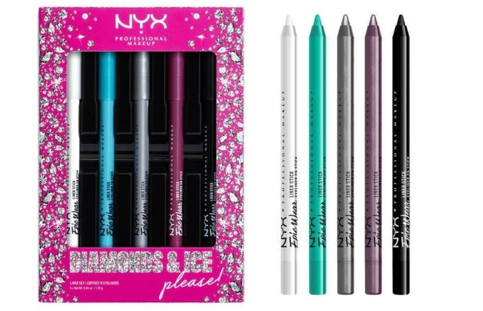 Kit matite occhi NYX Diamond And Ice Natale 2020