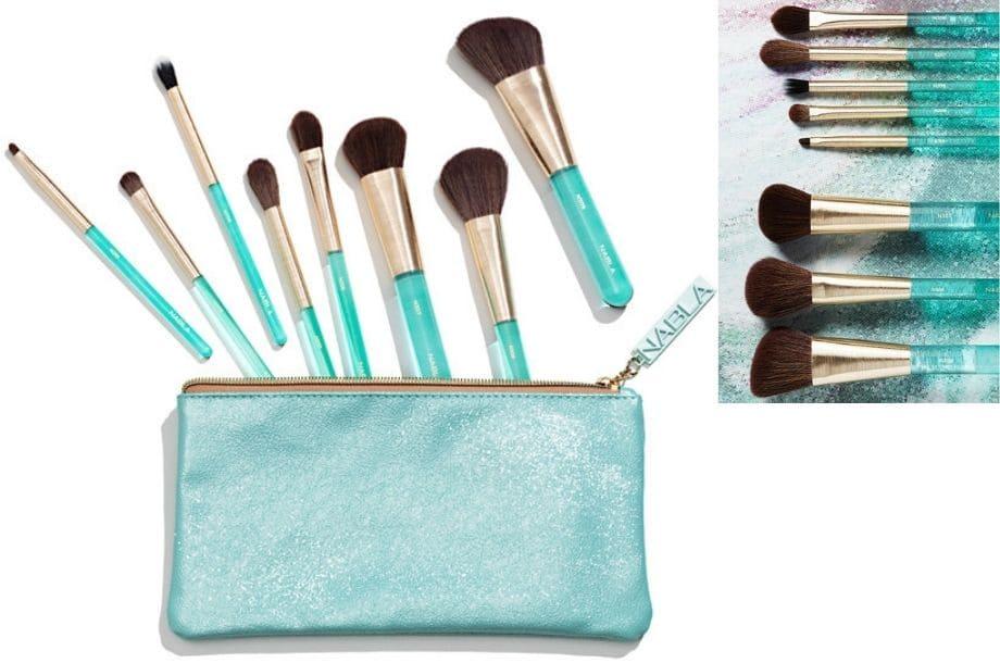 Gems Brush Set Nabla Natale pennelli Aquamarine