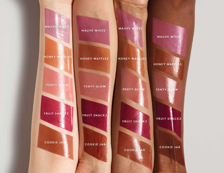 Fenty Beauty Gloss Bomb Cream swatches