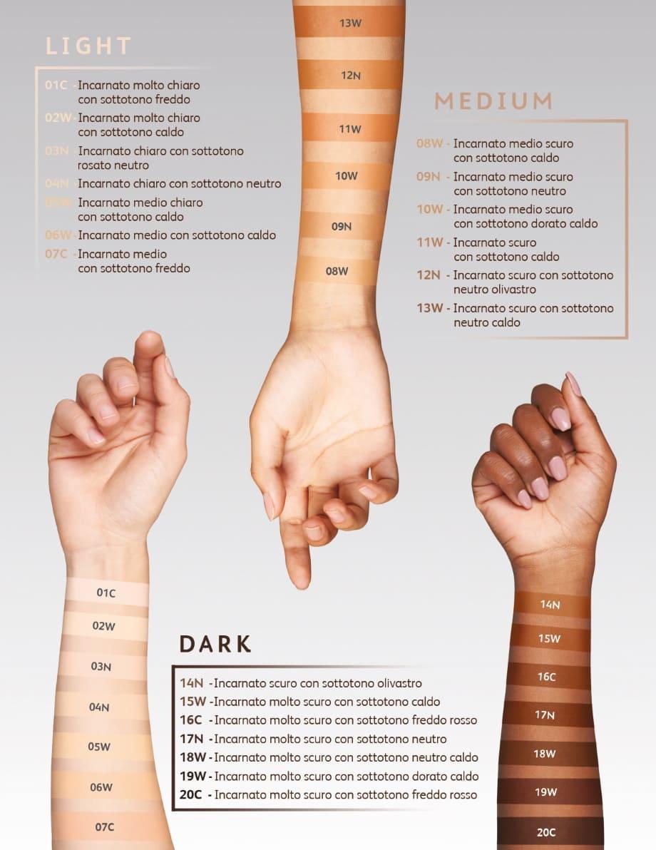 The Universal Foundation Astra colori